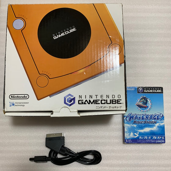 Orange Gamecube System - with GC Dual kit and JP/US switch