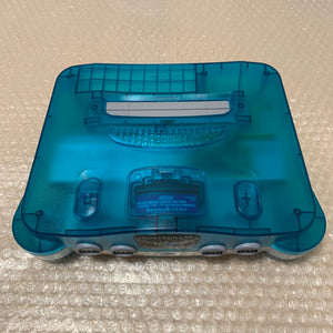 Clear Blue Nintendo 64 with N64RGB kit - Compatible with JP and US games