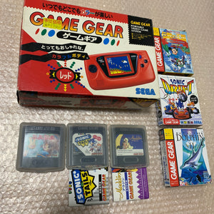 Boxed Red Game Gear with McWill LCD screen set