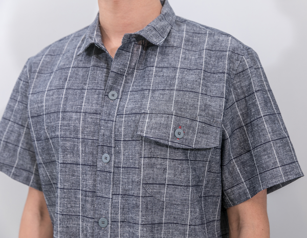 men's patterned chef shirt
