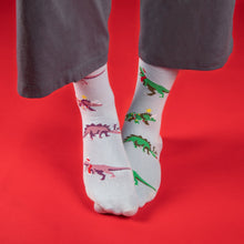 Load image into Gallery viewer, Festive Dino Socks