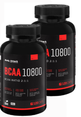 Picture of Body Attack Double Pack BCAA 10800 - 600 Caps
