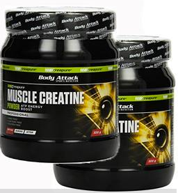 Picture of Doppel-Pack Body Attack Muscle Creatine Creapure 20% RABATT