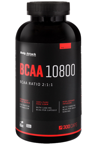 Picture of Body Attack BCAA 10800 - 300 Caps