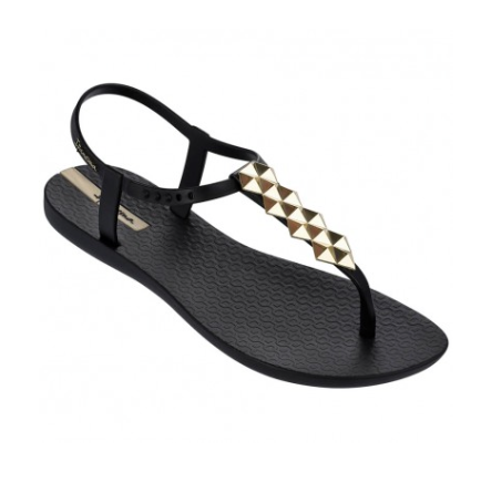 Ipanema Cleo Shine Sandal in Black/Gold