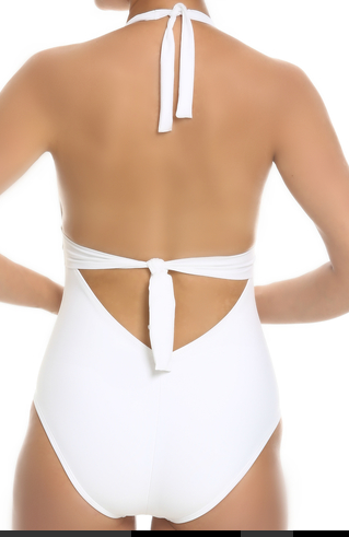 Tara Grinna White Halter One Piece ND-339