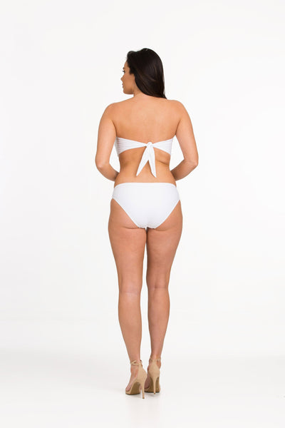 Tara Grinna White Twist Bandeau ND-136