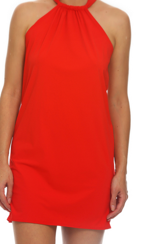 Tara Grinna Red Halter Dress Cover Up RE-409