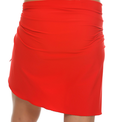 Tara Grinna Red Stretch Wrap Cover Up RE-403