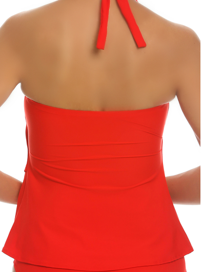Tara Grinna Red Tankini Loose Fit RE-150