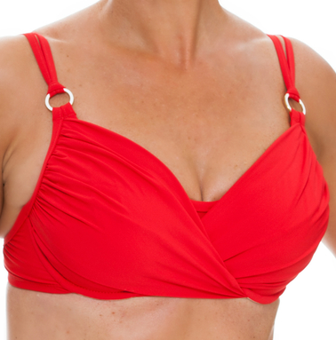 Tara Grinna Red Underwire Cup Sized Top RE-142