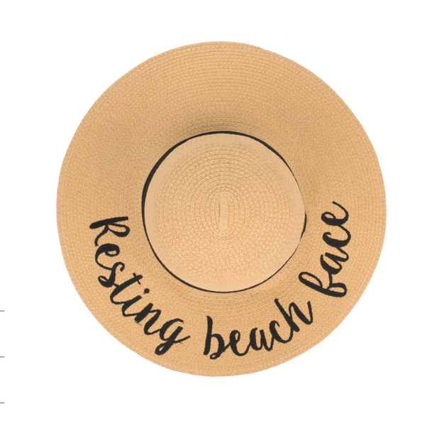 Resting Beach Face Floppy Hat