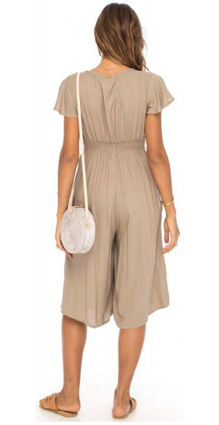 Skemo Basics Jumpsuit in Camel