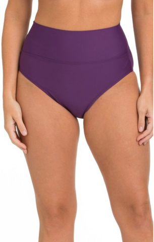 Tara Grinna Eggplant High Rise Cheeky Bottoms EP-264
