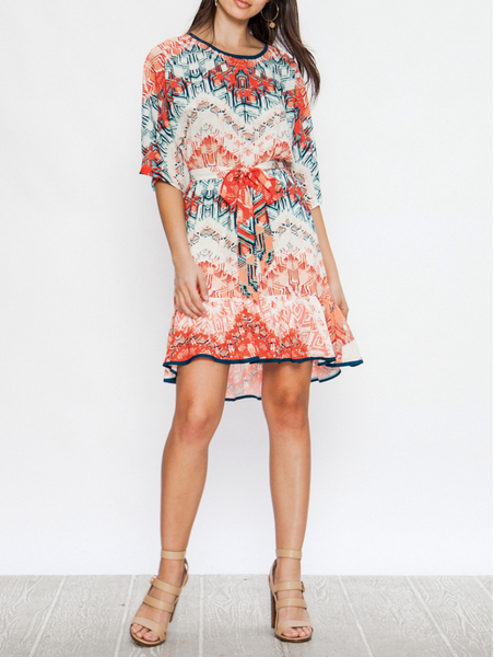 Flying Tomato Bianca Dress - Coral