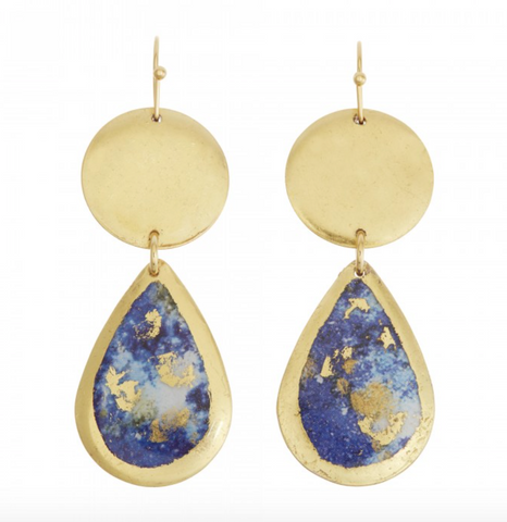 MI405 Lapis Mini Teardrop Earrings