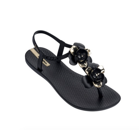 Ipanema Floret Sandal - Black Gold