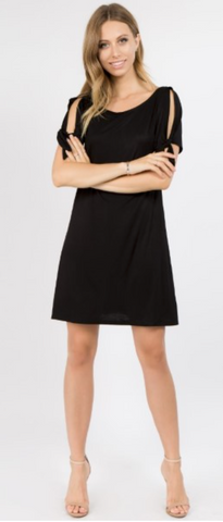 Sailor Sleeve Dress - Black