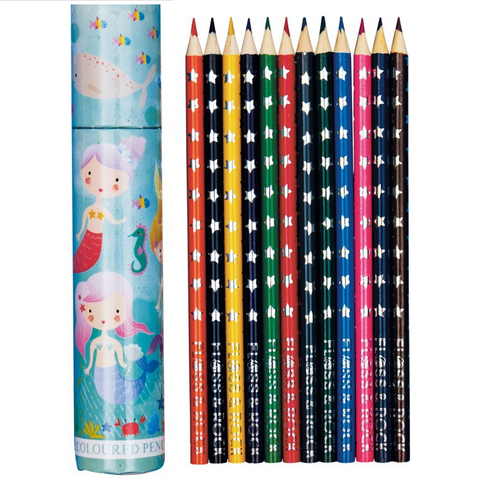 Mermaid Pk of 12 Pencils