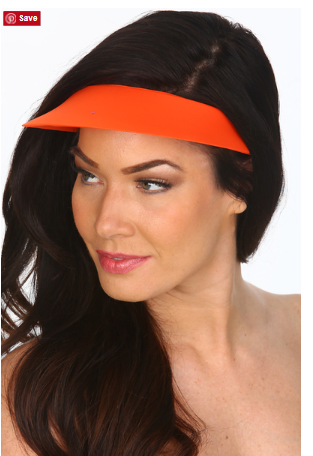 Tara Grinna Tangerine Lycra Covered Visor TN 501