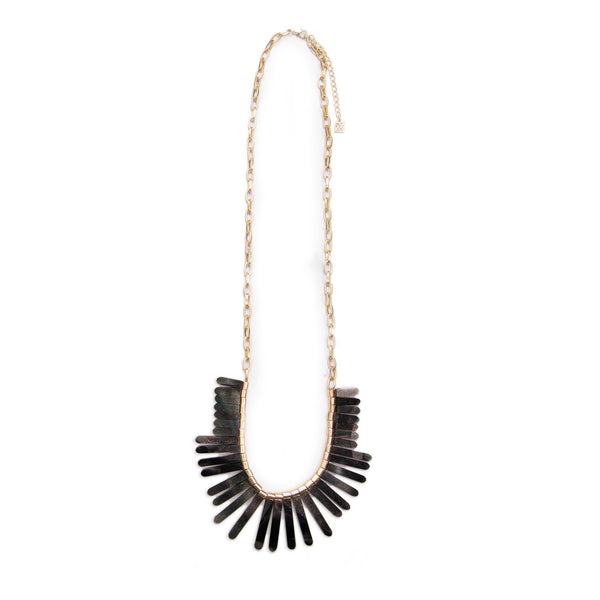 Henderson Black Tortoise Necklace