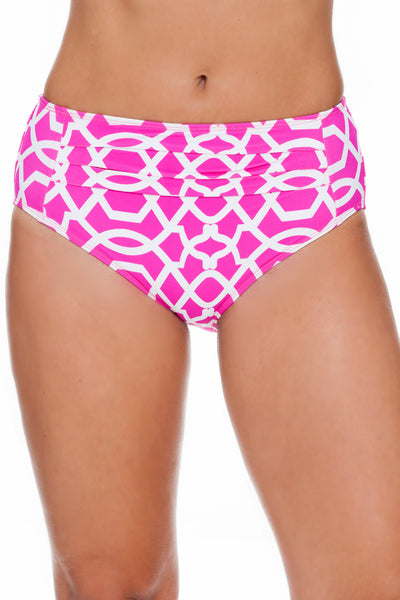 Tara Grinna Playa Paraiso Pleated Mid Rise Bottom - PA209
