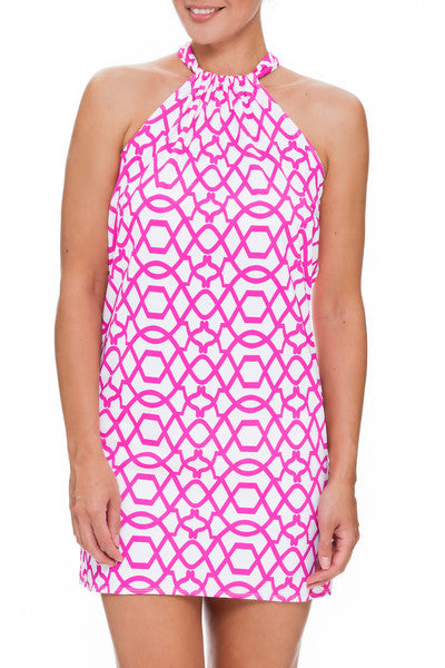 Tara Grinna Playa Paraiso Halter Dress - PA409