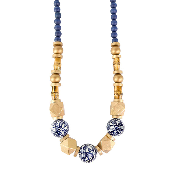 Sydney Navy Necklace