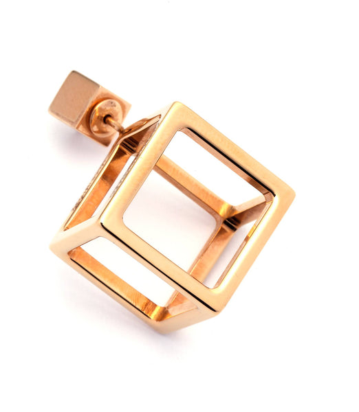 JASON BLACK ENAMEL CUBE EARRING