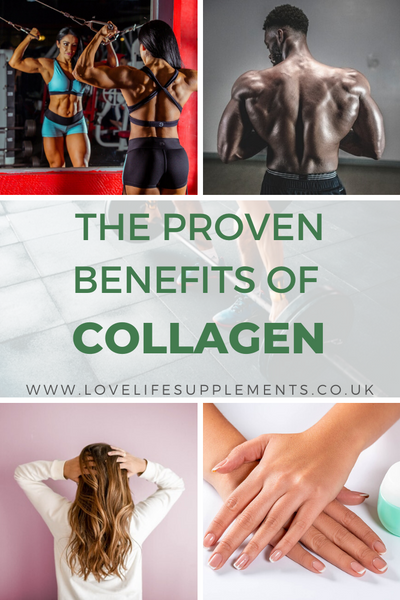 proven Benefits of taking collagen supplements pin