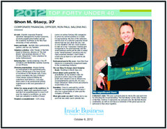 Inside Business TOP 40 UNDER 40 Keepsake Plaque