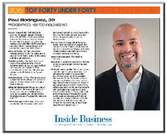 "Inside Business ""Top Forty Under Forty"" Keepsake Plaque"