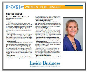 "Inside Business ""Women In Business"" Keepsake Plaque"