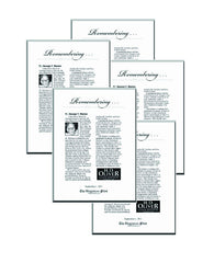 Family Pack of 5 Obituary Keepsakes