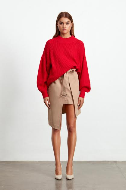 Pomodoro Knit Jumper in Red