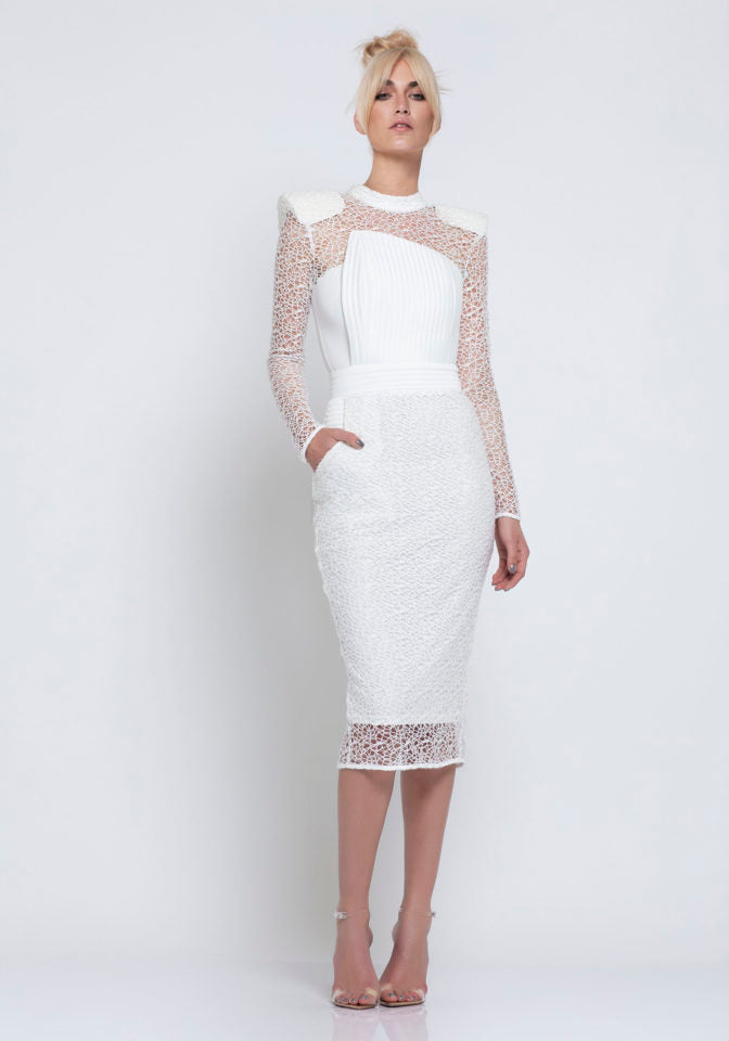 The Empire Dress in White