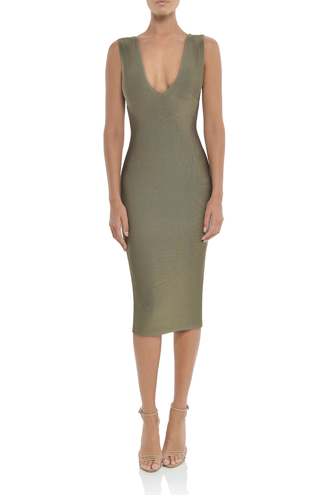Solange Dress in Khaki