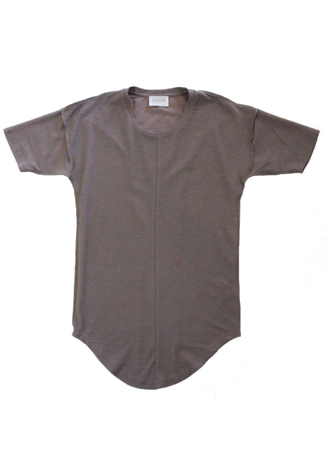 Alber Drop Shoulder Tee in Deep Taupe