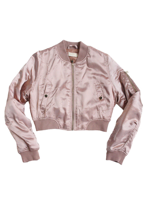 Bad Bitch Bomber in Dusty Pink