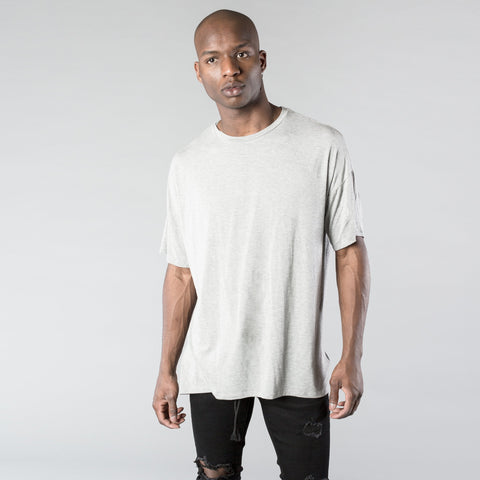 Essential Concave Tee in Grey