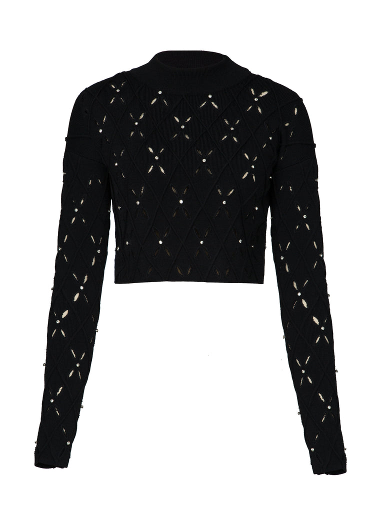 Diamond Argyle Cropped L/S