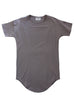 Essential Drop Shoulder Tee in Muted Grey