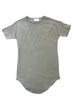 Essential Drop Shoulder Tee in Muted Olive