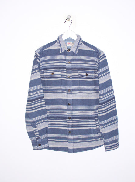 Durango CPO Longsleeve Workshirt (unlined) in Indigo Multi Stripe