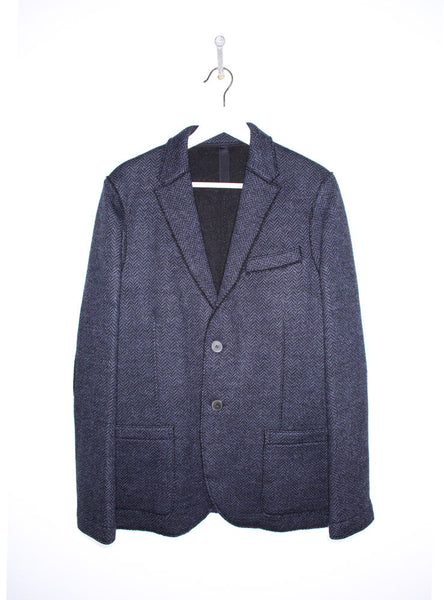 2B Herringbone Jacket in Navy Blue