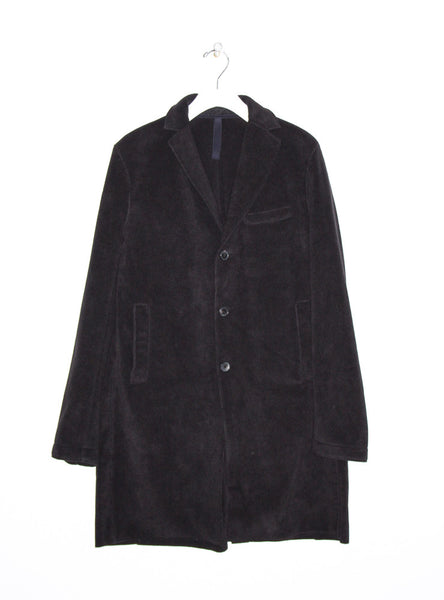Boxy Polaire Coat in Black