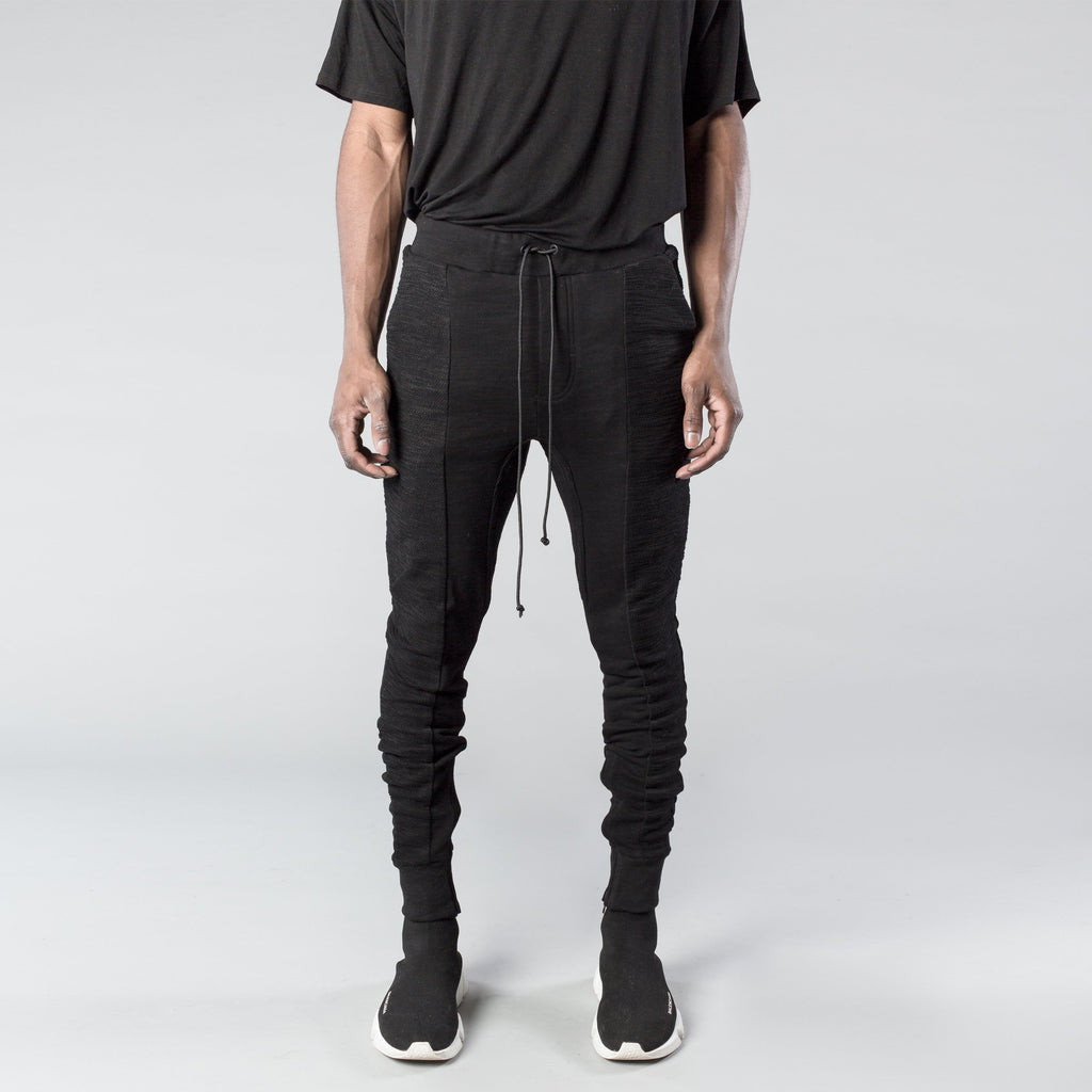 Panel Sweatpants in Black