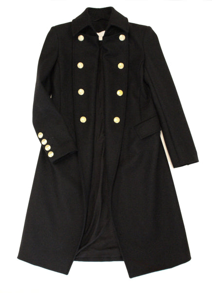 Peirre Balmain Trench Coat in Black
