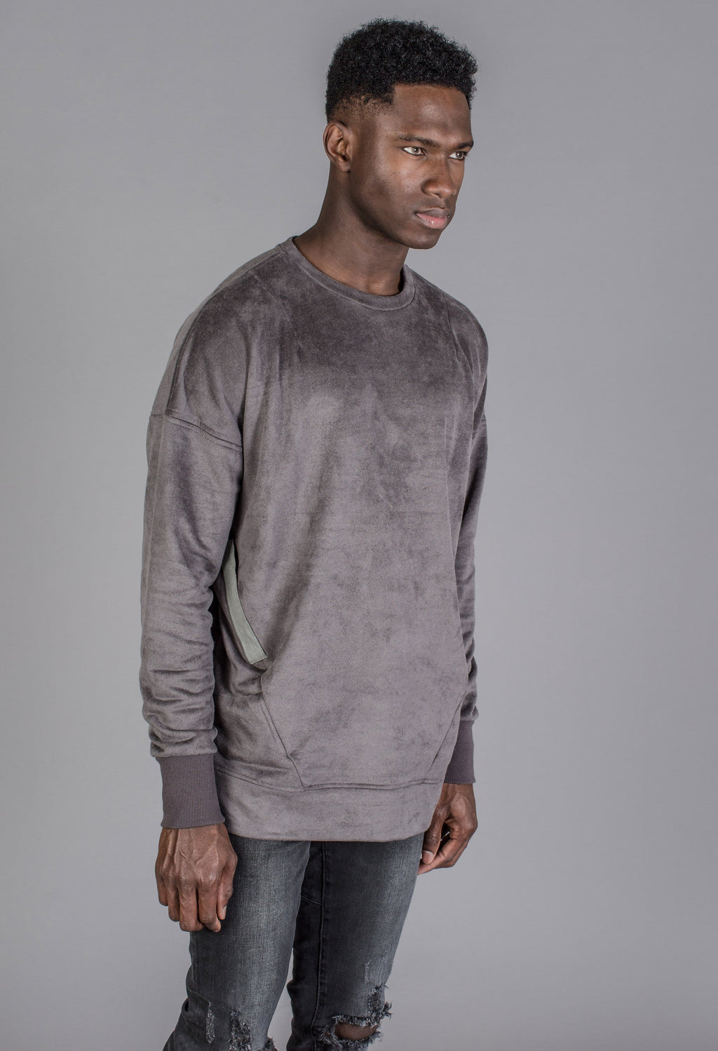 The Signature Pullover in Charcoal