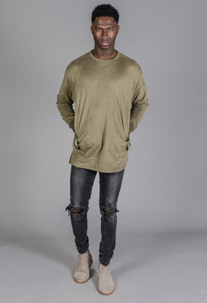 The Signature Pullover in Olive